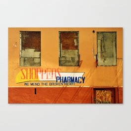 Shoppers Pharmacy - We Mend the Broken Heart Canvas Print