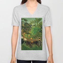 """Henri Rousseau """"Exotic landscape"""", 1910 Unisex V-Neck"""