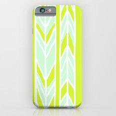 Stripes: Yellow & Pale Blue iPhone 6s Slim Case