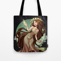 loish Tote Bags featuring Flow by loish