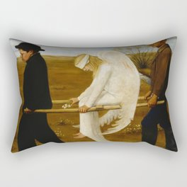1903 Classical Masterpiece 'The Wounded Angel' by Hugo Simberg Rectangular Pillow