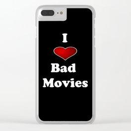 I (Love/Heart) Bad Movies print by Tex Watt Clear iPhone Case