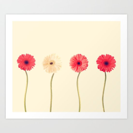 Technicolour Flowers  Art Print
