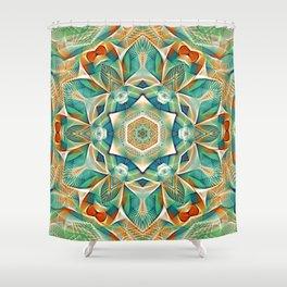 Flower Of Life Mandala (Setting Sun) Shower Curtain