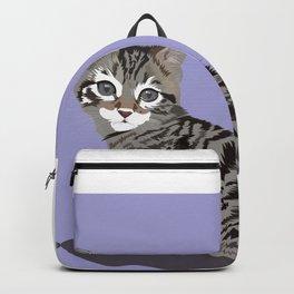 Cute Kitten Portrait Backpack
