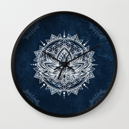 Lotus Mandala (white) Wall Clock