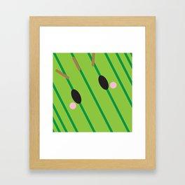 Cactuar Block Framed Art Print