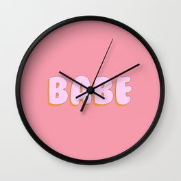 'Babe' Bubble gum Letters Wall Clock