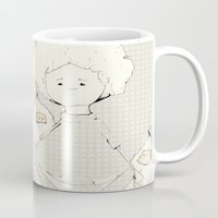 boy Mugs featuring Boy by Ana Magalhães