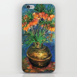 Vincent Van Gogh Frittilaries in Copper Vase 1887 iPhone Skin