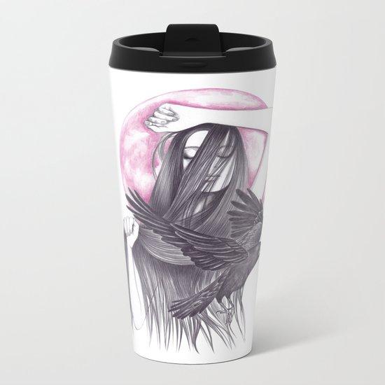 Crow Dance Metal Travel Mug