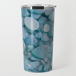 Japanese Sea Glass - Low Tide Blues II Travel Mug