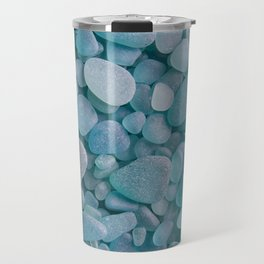 Japanese Sea Glass - Low Tide Blues II Travel Mug