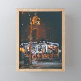 East Village Finest Deli Framed Mini Art Print