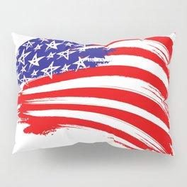 USA Sketched Flag Pillow Sham