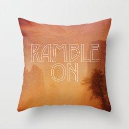 Ramble On Throw Pillow