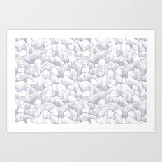 Mountain Goats on Mountains Art Print