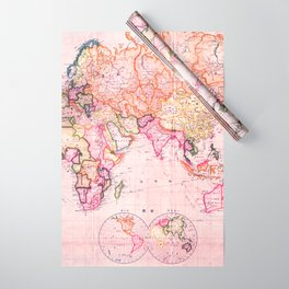 Vintage Map Pattern Wrapping Paper