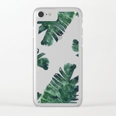 Banana Leaf Watercolor Pattern #society6 Clear iPhone Case