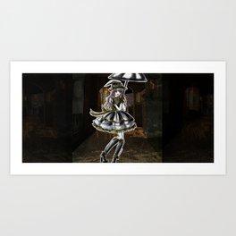 Hufflepuff Halloween Witch Art Print