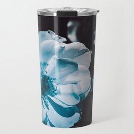 Fresh White Zen Rose Travel Mug