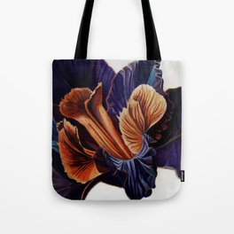 Black Iris Tote Bag