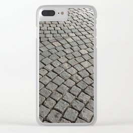 Harmony Patterns in stone blocks Clear iPhone Case