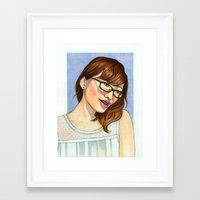 tina crespo Framed Art Prints featuring Tina by kamicokrolock