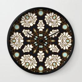 Kaleidoscope Oriental Garden Print Wall Clock