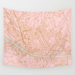 Firenze map Wall Tapestry