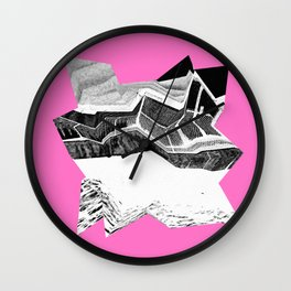 Glitch Scrunch Pink 2 Wall Clock