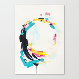 Yesterday to Tomorrow - abstract painting by Jen Sievers Canvas Print