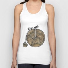 Penny Farthing Map Unisex Tank Top