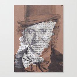 Willy Wonka Portrait with Pure Imagination Lyrics Canvas Print