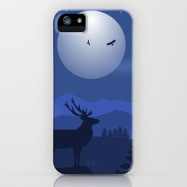 Mystical Night in the Mountains iPhone Case