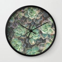 Succulents 2 Wall Clock