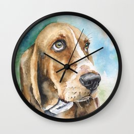 Bassett Hound Watercolor | Pillow Cover | Dogs | Home Decor | Custom Dog Pillow | Dog Mom | Hound Wall Clock