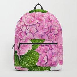 Hydrangea waterolor pattern Backpack