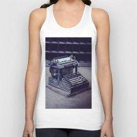 typewriter Tank Tops featuring Typewriter by Kerri Ann Crau
