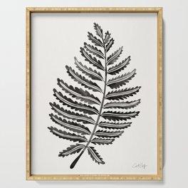 Fern Leaf – Black Palette Serving Tray