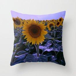 sunflower wonderland Throw Pillow