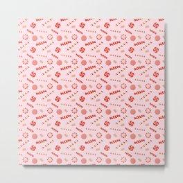 Seasonal Sweets Pink Metal Print