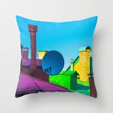 The brightness of the roofs of the city Throw Pillow