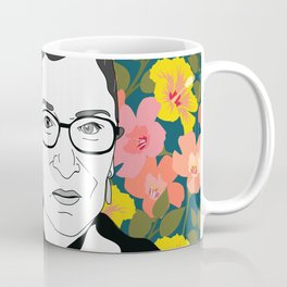 Ruth Bader Ginsburg Floral Kaffeebecher