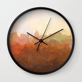Madison, Wisconson Skyline - In the Clouds Wall Clock