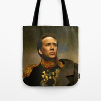 shopping Tote Bags featuring Nicolas Cage - replaceface by replaceface
