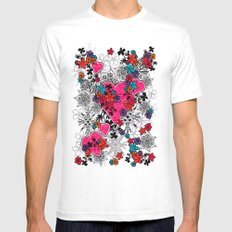 heart is home MEDIUM White Mens Fitted Tee