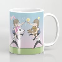 fight Mugs featuring FIGHT! by Meuphrosyne