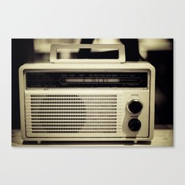 "on the radio... ""ANALOG zine""  Canvas Print"