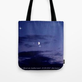 Mond am Südhorizomt. Tote Bag